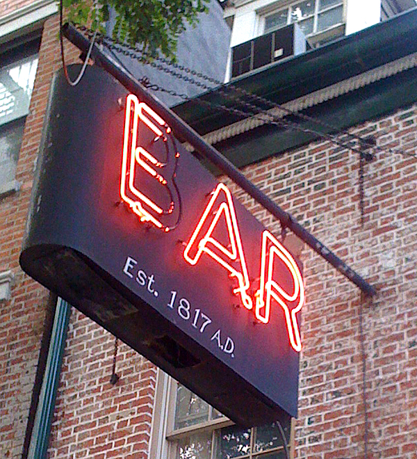 Ear Inn Sign 2