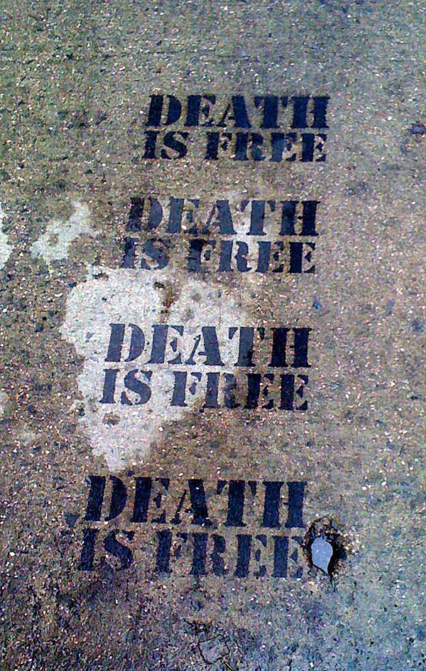 death is free stencil