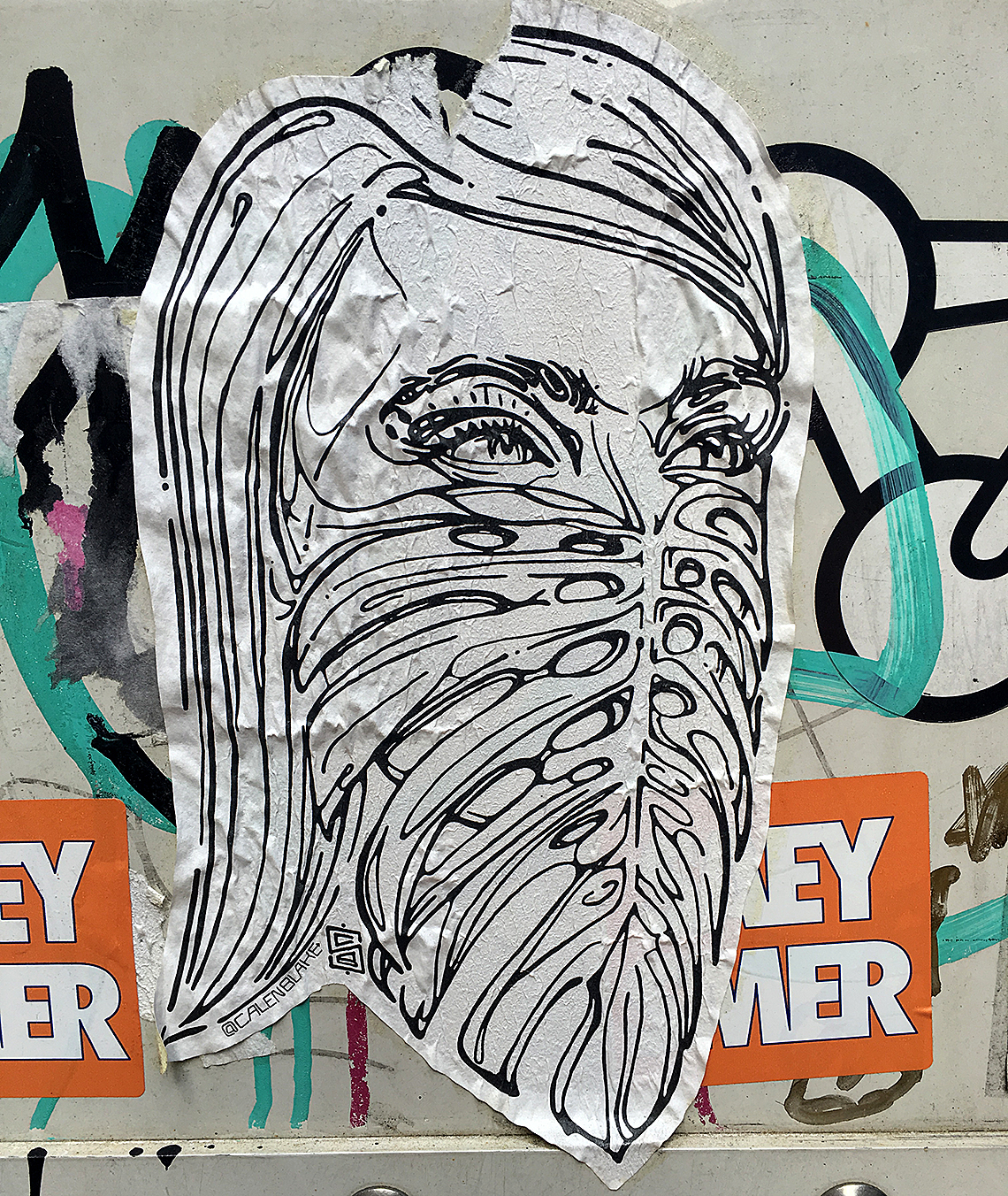 mask paste up image