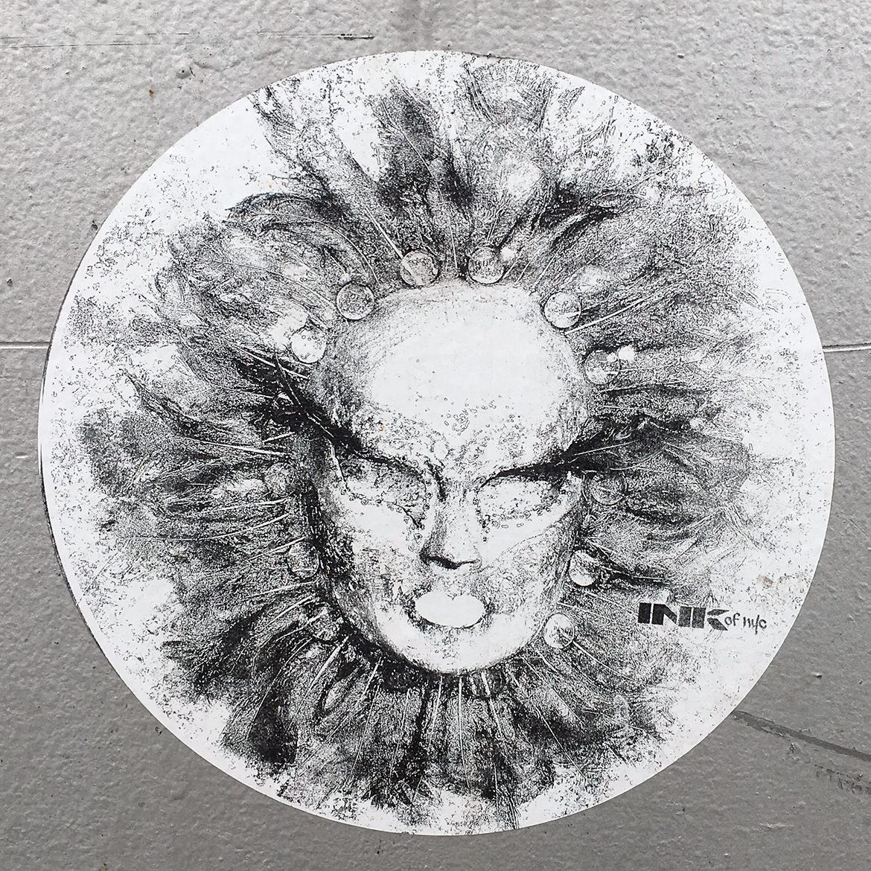 sun/face illustration