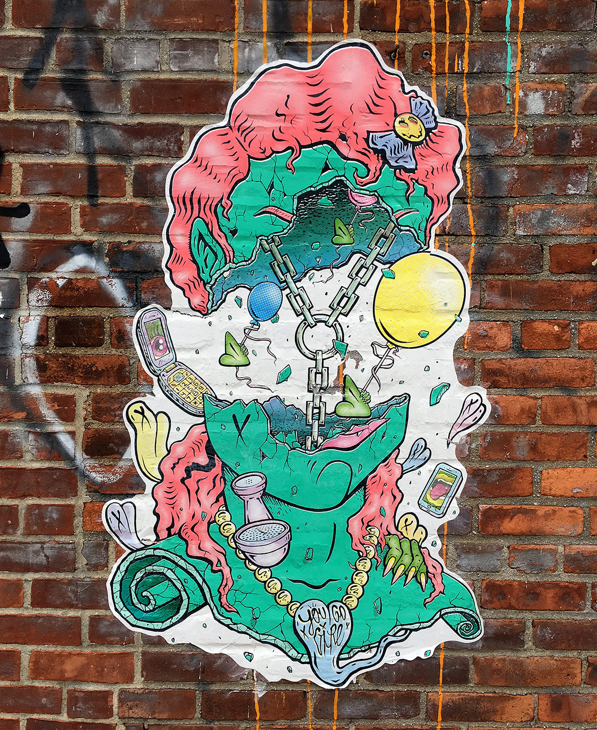 Chain head paste up