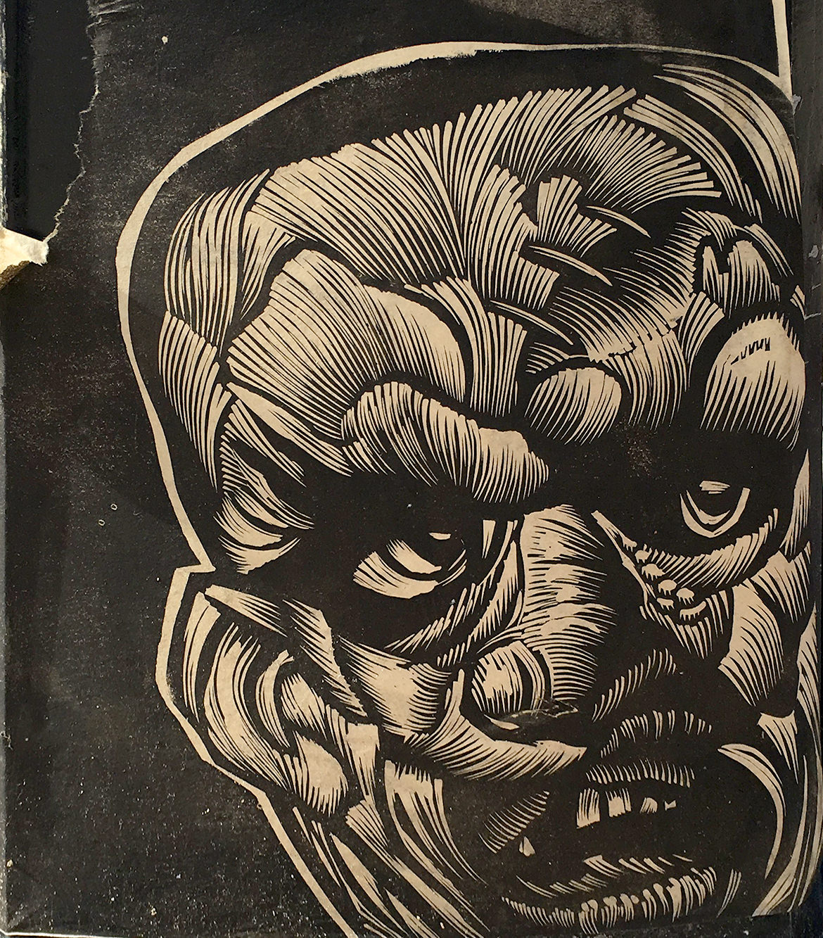 paste up illustration of Nixon as a Frankenstein monster