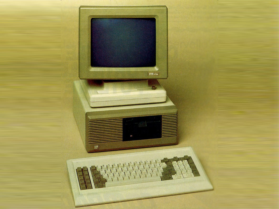 Photo of an ITT Xtra computer circa 1984